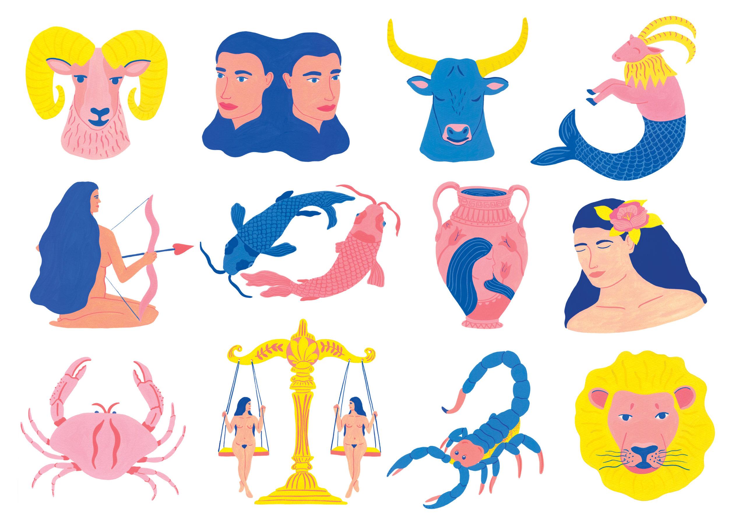 Marie-pellet-illustrations-gouache-horoscope-zodiaque-signes-femmes-editorial-portfolio
